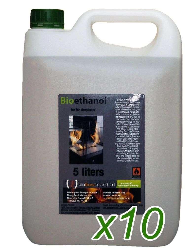 50L (10 x 5L Drums) 'Biola' Premium Bioethanol Fuel
