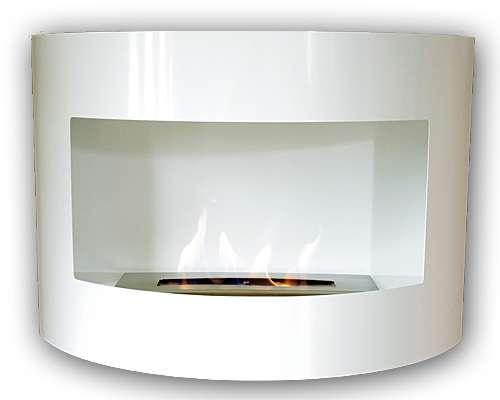 Riviera Deluxe Bio Ethanol Fireplace White