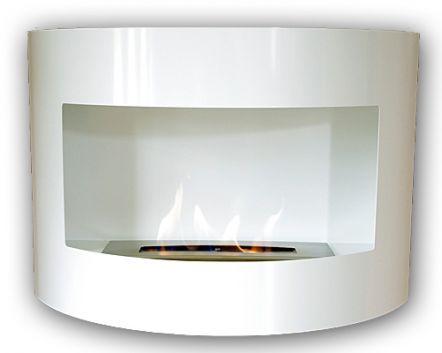 RIVIERA Deluxe White Bio Ethanol Gel Fire Place
